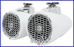 Rockford Fosgate PM2652W Punch Marine 6.5 Wakeboard Tower Speakers Pr