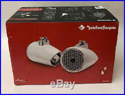 Rockford Fosgate PM282HW White Wakeboard Tower Outdoor Marine Speakers boats