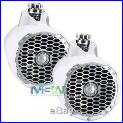 Rockford Fosgate Pm2652w Punch 6.5 340w Marine Wakeboard Tower Speakers White