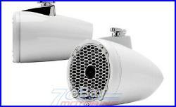 Rockford Fosgate Pm282hw White 8 600w Marine Boat Wakeboard Tower Speakers New