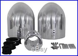 Rockville 7.7 Polished Silver Aluminum Wakeboard Tower Speaker Enclosures-Pair
