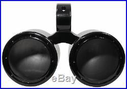 Rockville DMAC65B Dual 6.5 Black Aluminum Wakeboard Tower Speaker Pods+Cover