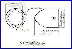 Rockville DMAC65W Dual 6.5 inch White Aluminum Wakeboard Tower Speaker Enclosure