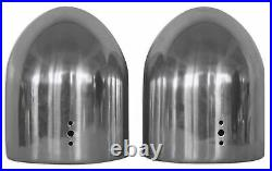 Rockville DMAC80S Dual 8 Silver Aluminum Wakeboard Tower Speaker Pods+Covers