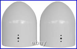Rockville DMAC80W Dual 7.7 White Aluminum Wakeboard Tower Speaker Enclosure