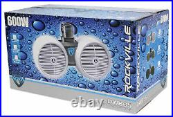 Rockville DWB65W Dual 6.5 White 600 Watt Marine Wakeboard Tower Speaker System