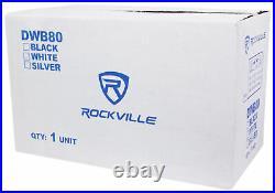 Rockville DWB80W Dual 8 White 800 Watt Marine Wakeboard Tower Speaker System