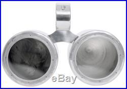 Rockville Dual 6.5 Polished Silver Aluminum Wakeboard Tower Speaker Enclosure