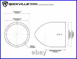 Rockville Dual 7.7 Polished Silver Aluminum Wakeboard Tower Speaker Enclosure