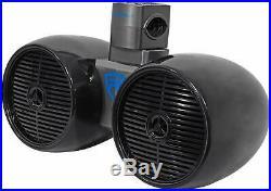 Rockville Dwb65B Dual 6.5 Black 600 Watt Marine Wakeboard Tower Speaker System