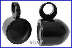 Rockville MAC525B 5.25 360° Swivel Black Aluminum Wakeboard Tower Speaker Pods