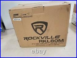 Rockville RKL80MB 8 900 Watt Marine Wakeboard LED Tower Speakers, Black 1 Pair