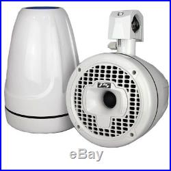 SPORT8-W 8 High Performance Best Marine Wakeboard Tower Speakers White