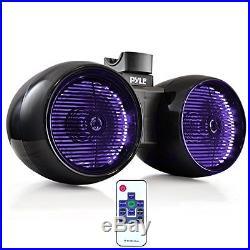 Sound Around PLMRWB852LEB Pyle 600W 8 Hydra Marine Tower Speakers, Wakeboard