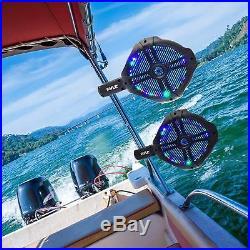 Sound Around Waterproof Marine Wakeboard Tower Speakers 8in Dual Subwoofer