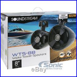 """Rockville Neoprene Covers For Soundstream WTS-8B 8/"""" Wakeboard Tower Speakers"""