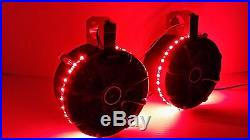 UTV KICKER 6 1/2 Stereo Speakers with RED LEDs Wakeboard Tower Can Am RZR Rhino