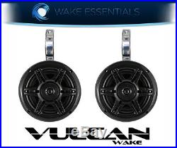 Vulcan Bullet Wakeboard Tower Speakers Polished Aluminium