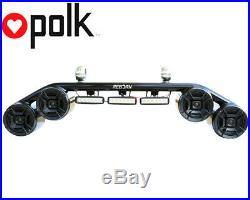 Wakeboard Tower Speaker Light Combo Black Polk DB652 300Wat Marine Speakers