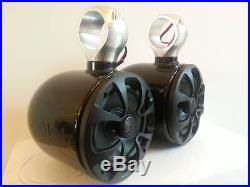 Wakeboard Tower Speakers Glossy Black INDY MRRP $339 Save $$$$