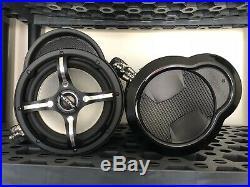 Wakeboard Tower Speakers MT8002BS 8 Inch Black Marine Tubbies Bazooka