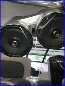 Wakeboard boat tower speakers