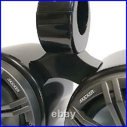 Wakeboarding Tower KICKER 6.5 inch Speaker / Bullet Pod Set COMBINED UNIT Grey