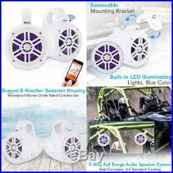 Waterproof Marine Wakeboard Tower Speakers 4In Dual Subwoofer Speaker Set WithLe