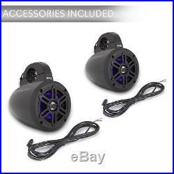 Waterproof Marine Wakeboard Tower Speakers 4 Inch Dual Subwoofer Speaker Set