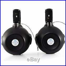 Waterproof Marine Wakeboard Tower Speakers 6.5 Dual Subwoofer Speaker Set and