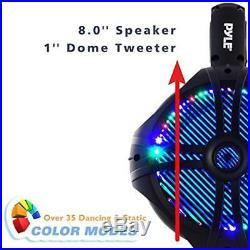 Waterproof Marine Wakeboard Tower Speakers 8in Dual Subwoofer Set And 1&rdquo