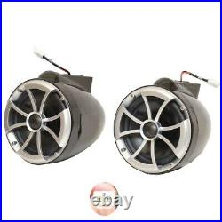 Wet Sounds Boat Wakeboard Tower Speakers 8-B Icon 8 Inch Black