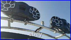 Wet Sounds REV 410 Wakeboard Boat Tower Speakers with Clamps BLACK
